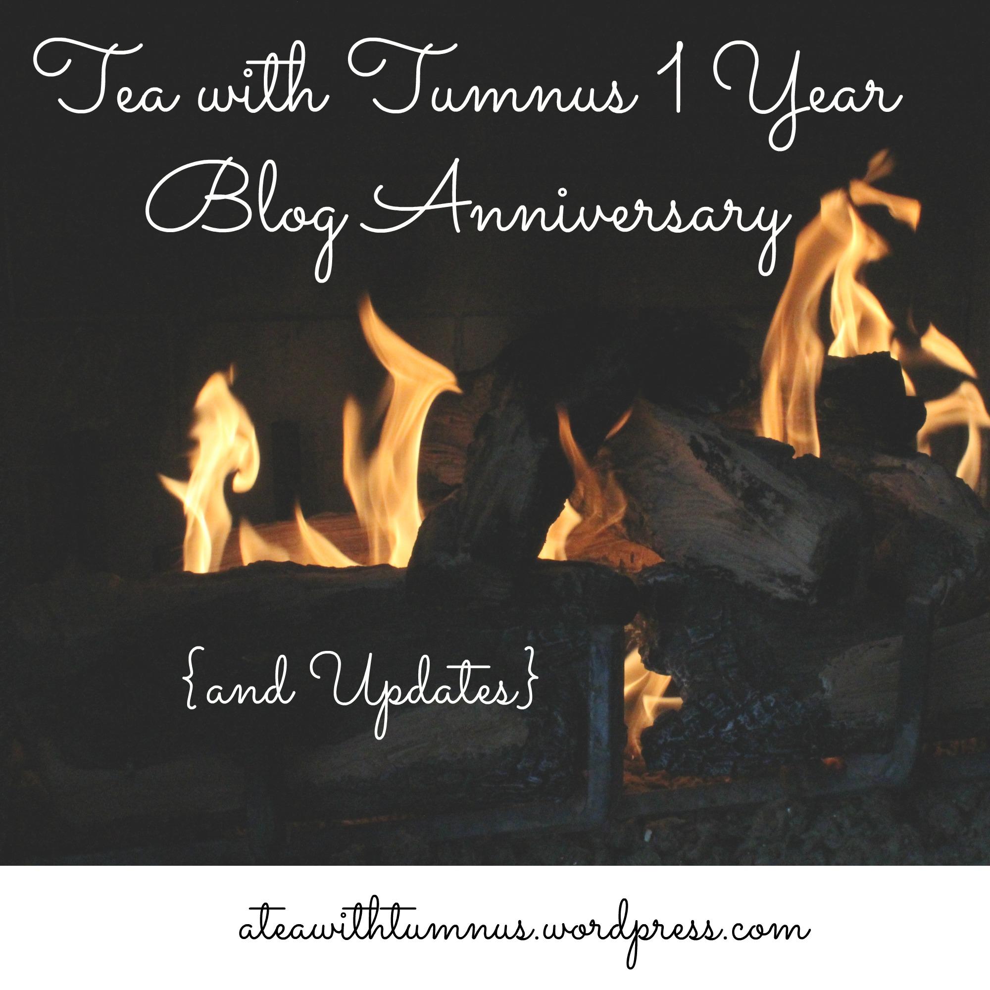 Tea with Tumnus 1 Year Blog Anniversary (and Updates)